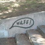 """""""Hilfe"""", fotografiert in Kassel"""